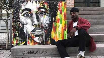 Congolese artist puts life in the frame with his surreal works