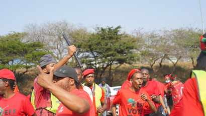 WATCH: EFF March to Phoenix turns rowdy as protestors stone buildings