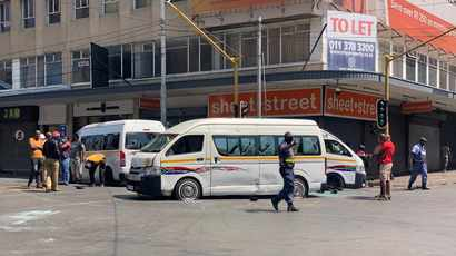 WATCH: Four taxis burnt, others vandalised in Joburg CBD