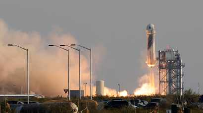 WATCH: Jeff Bezos successfully rockets to space