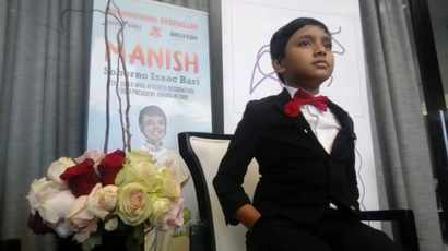 Watch: Meet 9-year-old Sorbono Isaac Bari, the world's youngest professor