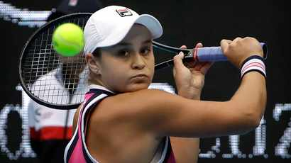 Ash Barty returns to action after 11 months for Australian Open warmup