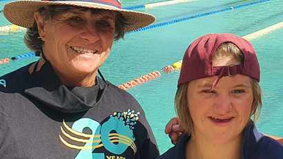 Teen Down Syndrome super swimmer is smashing records