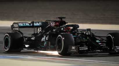 Hamilton sub Russell upstages Bottas to take double top on opening day