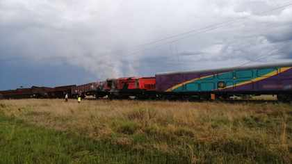 PICS: Six injured as freight, passenger trains collide in North West