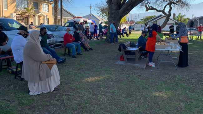 ACTION: Residents of Nerissa Estate at the launch. Picture supplied