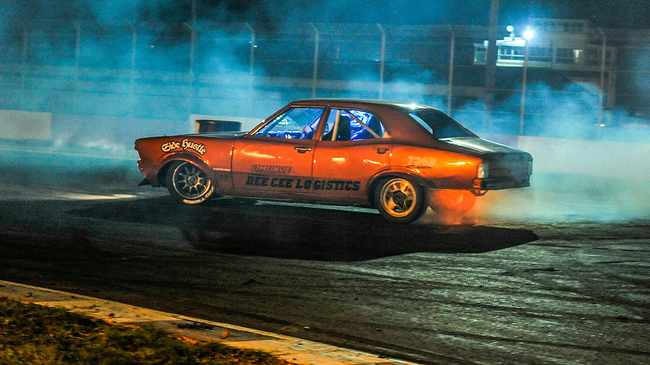 Cheslyn Wiener burning rubber on the spin pitch. Picture supplied