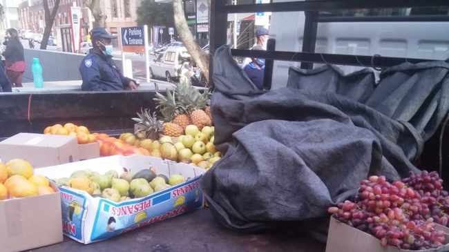 Ebrahim Solomons' fruit and vegetables stock confiscated. Picture supplied