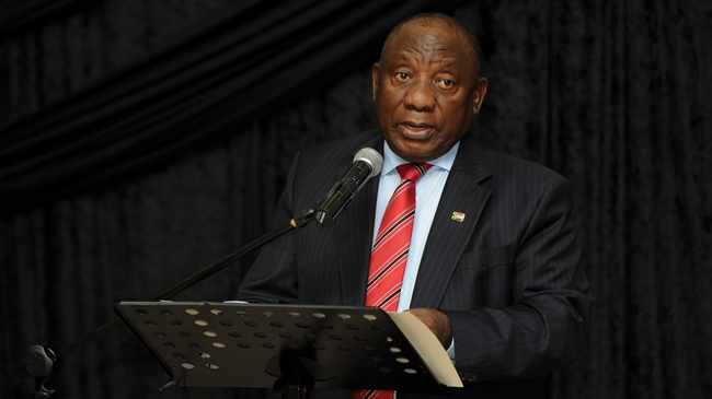 FAMILY MEETING: Ramaphosa. Picture: Henk Kruger/African News Agency(ANA)