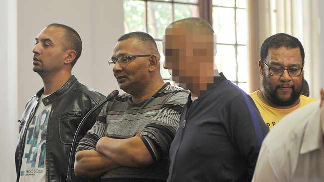 IN THE DRIVING SEAT: Accused Colin Booysen and Nafiz Modack