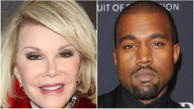 Joan Rivers and Kanye West