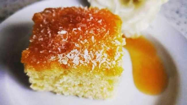 MOUTH-WATERING: The Apricot and Coconut cake