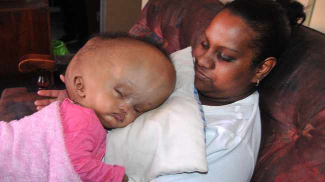 'MY PRINCESS': Lemicah with her mom, Rozanne Arendze, 30. Photo: Jack Lestrade/Daily Voice