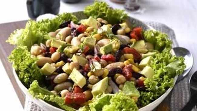 Mixed Beans, Chickpeas and avocado salad.Photo: Supplied