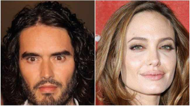 Russell Brand and Angelina Jolie