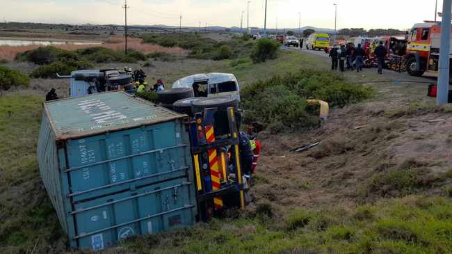 SCENE: Truck driver was killed. Picture supplied