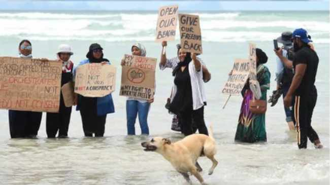 SEA THIS, CYRIL: Protesters