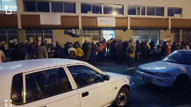 WAIT IN VAIN: People waited in long queues outside Sassa office in Athlone. Picture supplied