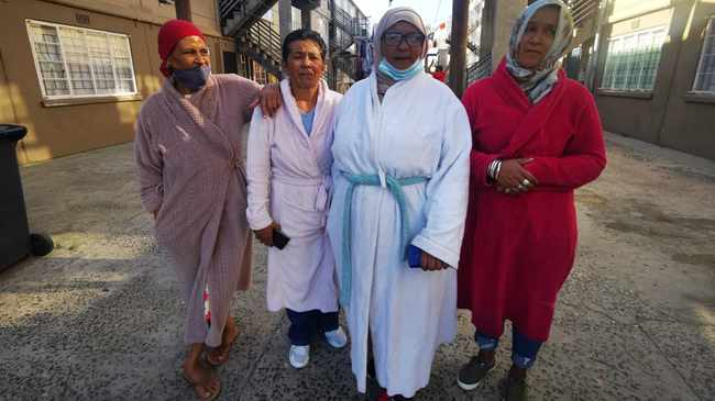 WAKKER: The Gown Gang aunties patrol streets of Heideveld. Picture: Monique Duval