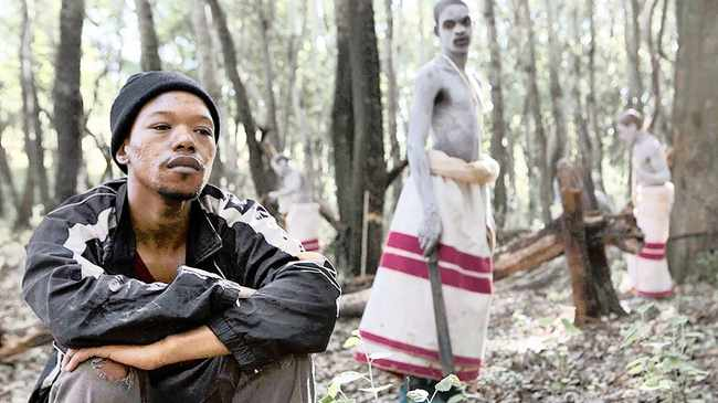 Nakhane Touré stars in 'Inxeba' as Xolani, a forklift operator in a warehouse who seems to live a very lonely and not very prosperous life.