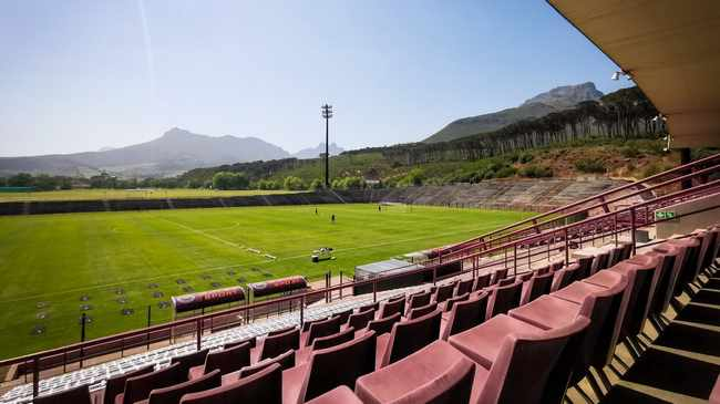 VANTAGE POINT: Danie Craven Stadium and mountain slopes