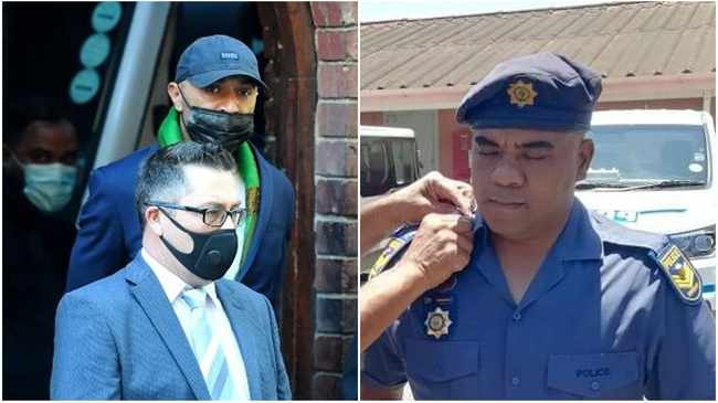 Nafiz Modack appeared at the Bishop Lavis Magistarates' Court alongside Anti-Gang Unit (AGU) officer Sergeant Ashley Tabisher.