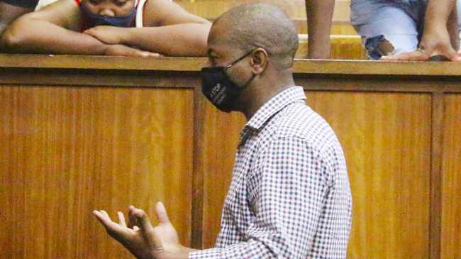 Thabang Leonard Moqhobai, 36, was handed a life sentence for the murder of his ex-girlfriend.