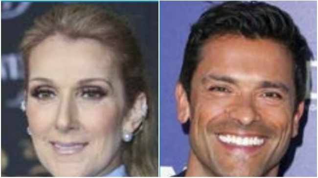 Celine Dion and Mark Consuelos