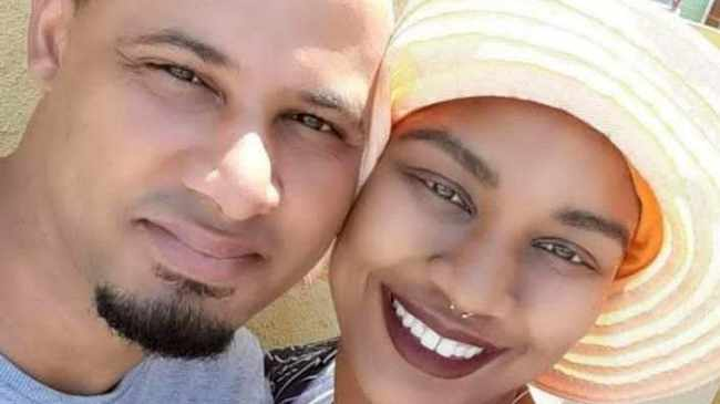 ATTACK: Husband Bradley and wife Rachelle Frans