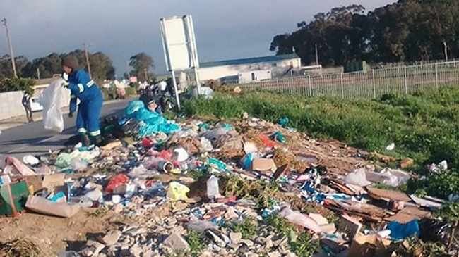 BEFORE: A University of Western Cape researcher has turned a dumping site into a stunning community garden in Fisantekraal. Picture supplied
