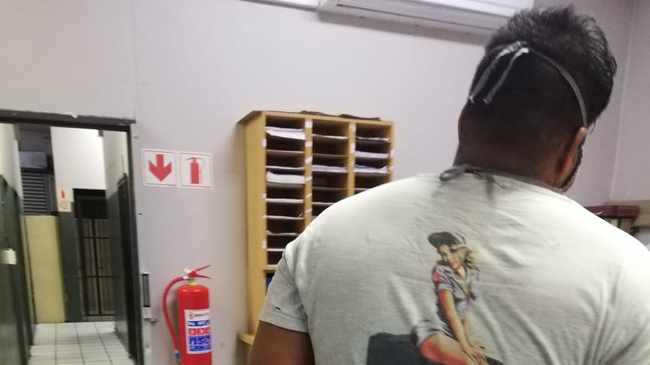 BEHIND BARS: The 26-year-old suspect nabbed in Grassy Park