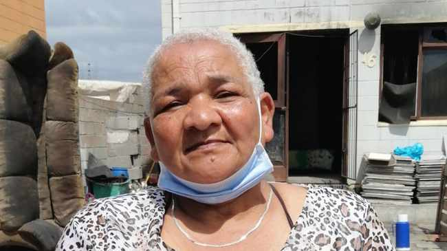 LOST HOME: Catherine Steyn, 65 GUTTED: Huis and Wendy razed. Picture: Venecia Valentine