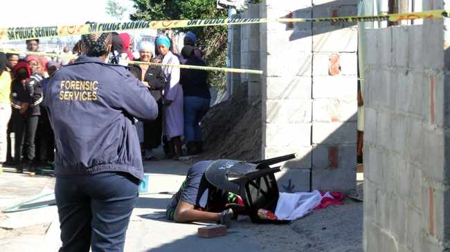 Taxi driver shot dead in Wallacedene. Picture: Solly Lottering