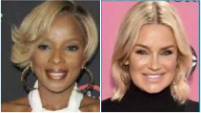 Mary J. Blige and Yolanda Hadid