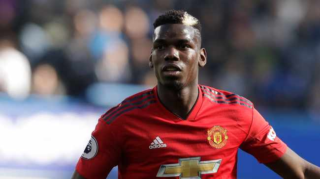 IN THE RED: Paul Pogba