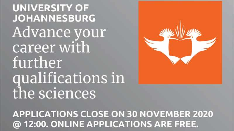 Advance your career with further studies in the sciences at the University of Johannesburg, Newsline