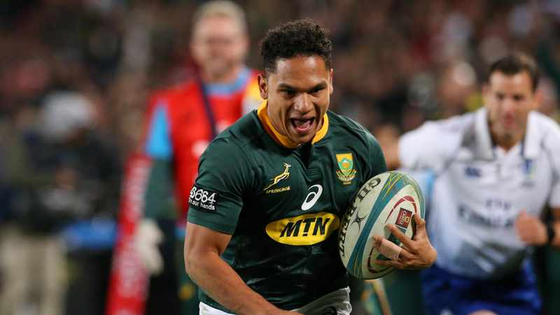 Springboks' Herschel Jantjies enjoying that burning sensation in the lungs again, Newsline