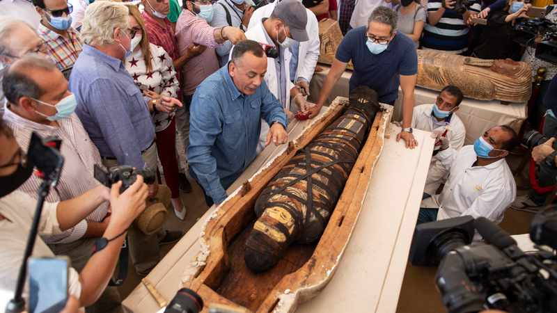 Archaeologists find 59 ancient coffins buried at Saqqara pyramids for 2 600 years, Newsline