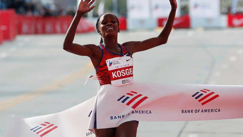 Kenyan Kosgei plays down chances of fast times in London Marathon, Newsline