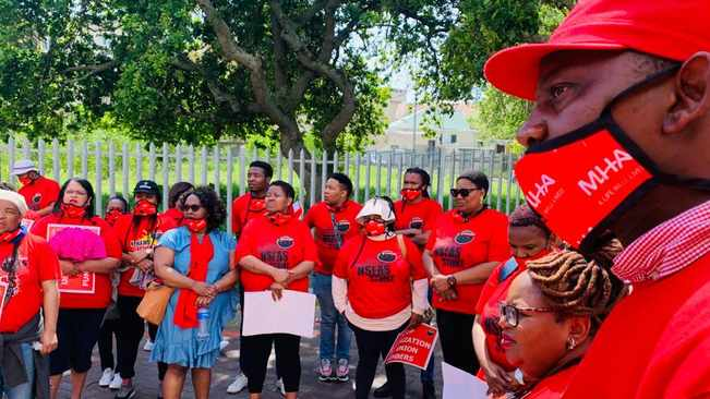 Over 200 NSFAS employees protest at Wynberg offices