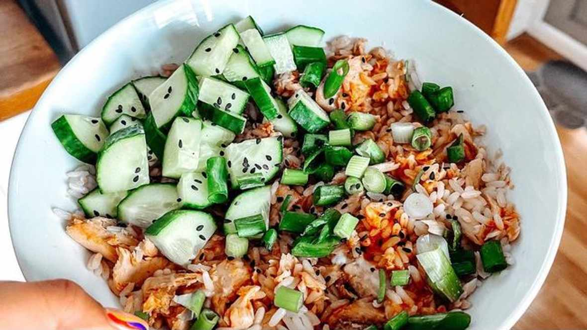 Salmon and rice bowl, Image: Instagram.