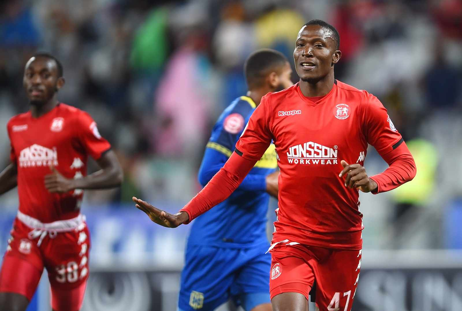 SOUTH AFRICA - Cape Town - 23 April 2019-  Tendai Ndoro of Highlands Park  scores against Cape Town City in a PSL match played at the Cape Town Stadium . Photograph; Phando/Jikelo/African News Agency(ANA)