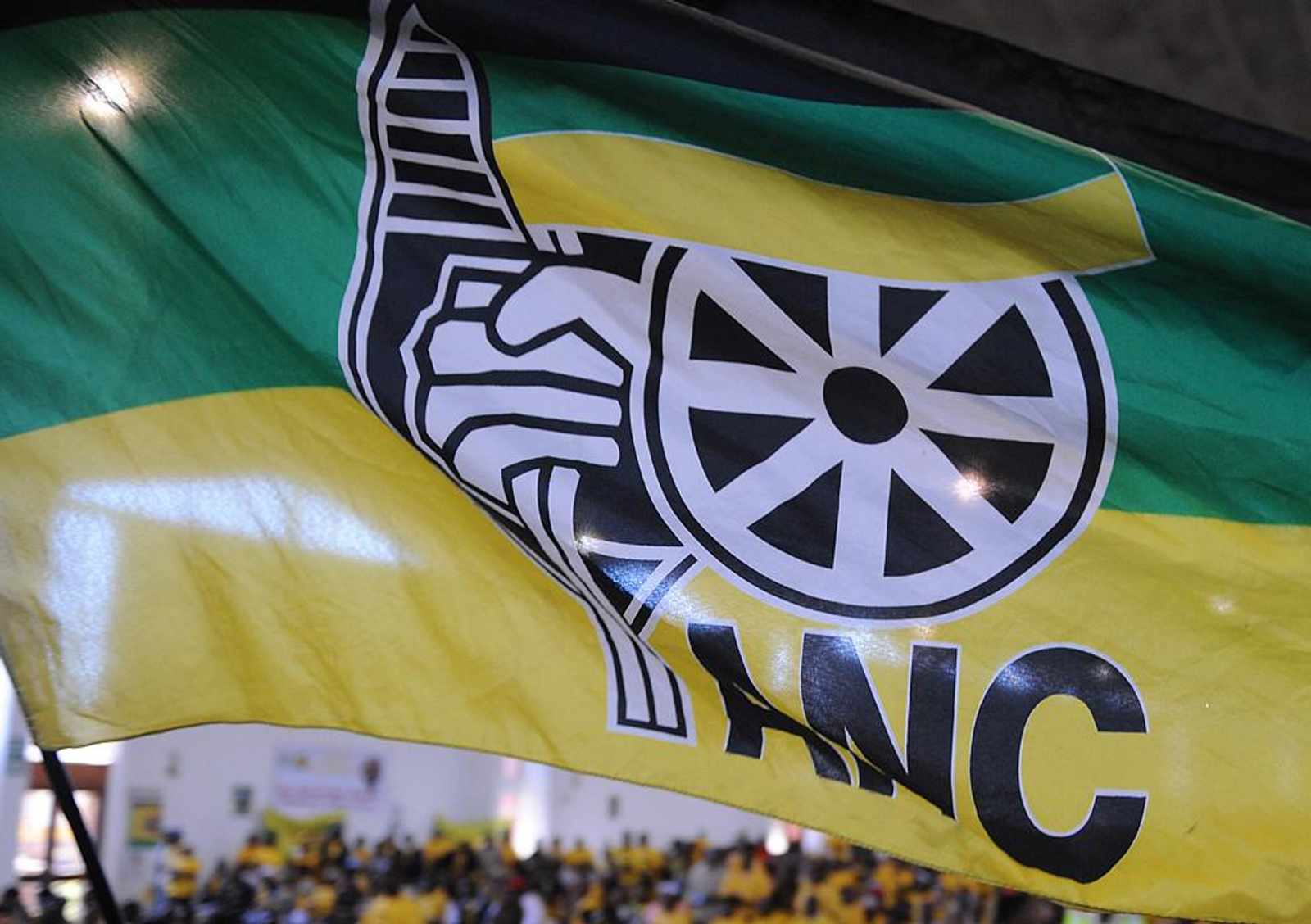 An ANC supporter holds a flag of the ANC while the President Jacob Zuma addresses ANC Gauteng Cadre Assembly in Pretoria. Picture: Phill Magakoe