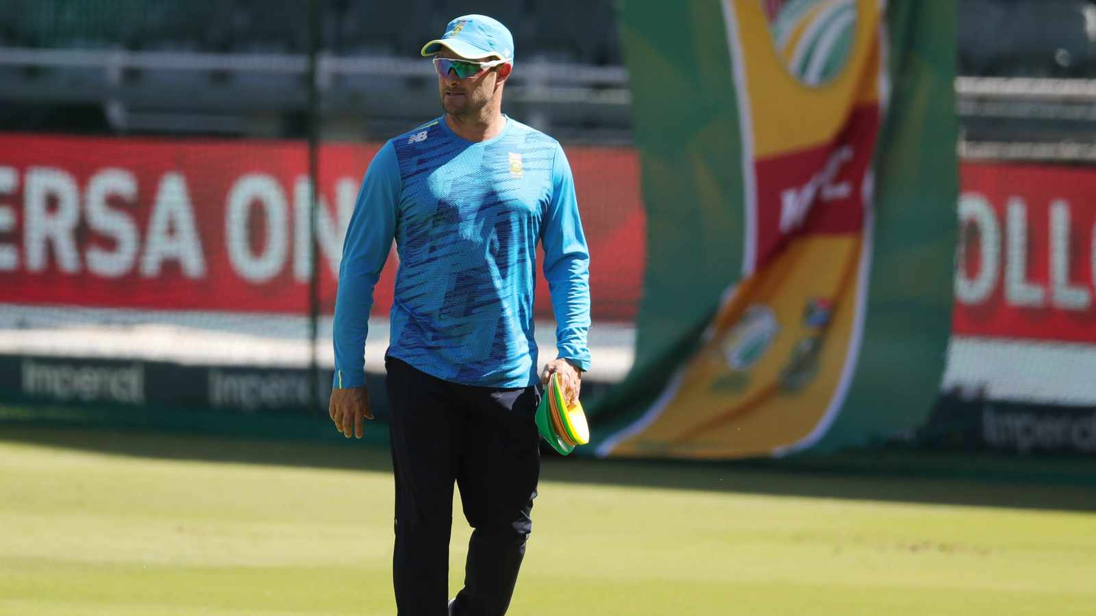 Mark Boucher, coach of South Africa during the 2021 KFC T20 match between South Africa and Pakistan at Wanderers Stadium,Johannesburg, on 12 April 2021 ©Samuel Shivambu/BackpagePix