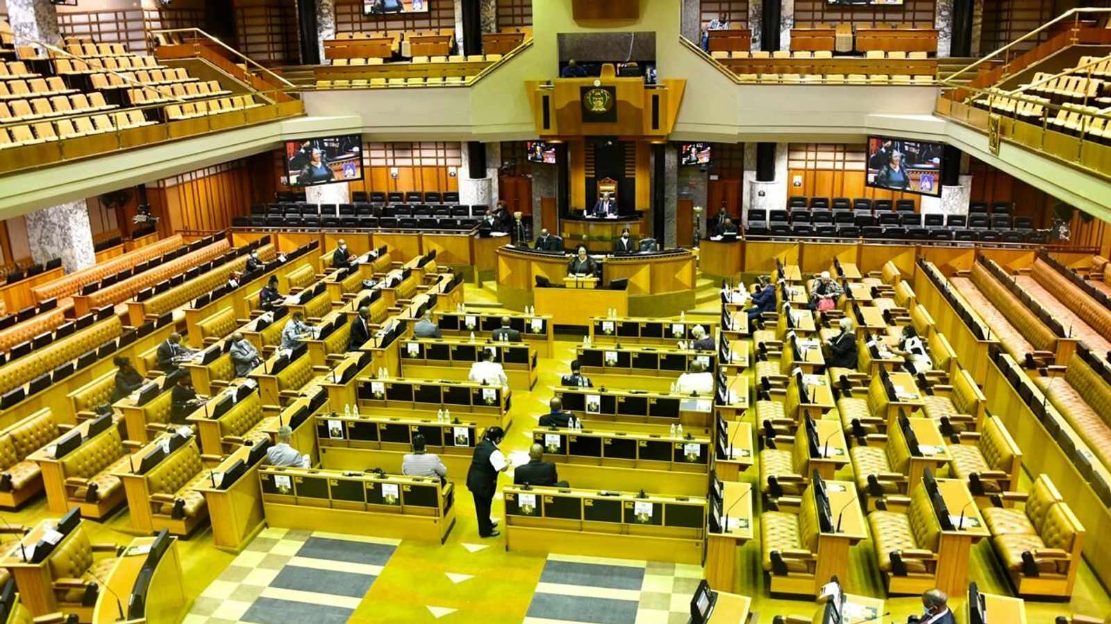 The debate on President Cyril Ramaphosa's State of the Nation Address for 2021 is taking place in the National Assembly on Tuesday and Wednesday. Picture: Siyabulela Duda/GCIS