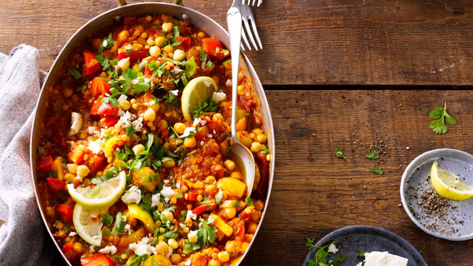 Easy Chickpea and Lentil Curry