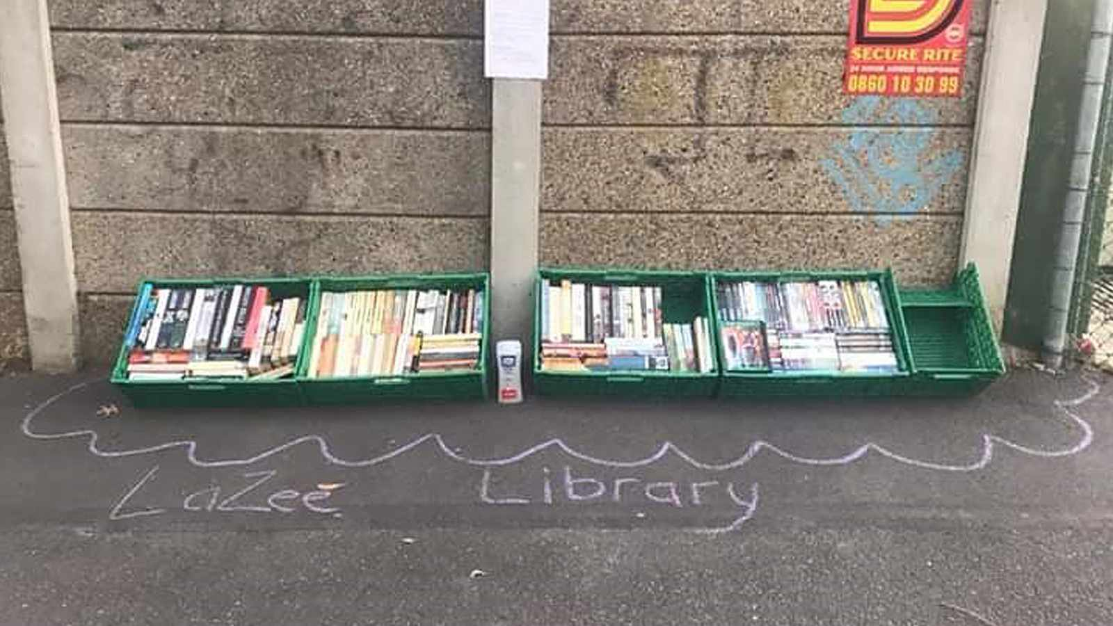 WATCH: Couple starts pop-up street library outside their home