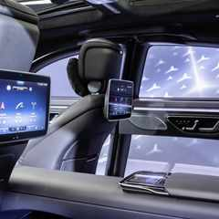 Mercedes new S-Class cabin tech with 5 screens, augmented reality is here, check it out.