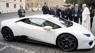 Pope given a Lamborghini, and he's not keeping it