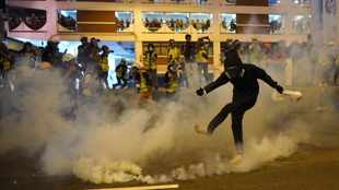 PICS: China lashes violent Hong Kong protests after damage to its offices